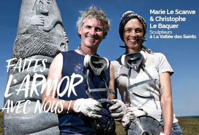 Sculpteur Vallée des Saints - Faites l'Armor avec nous