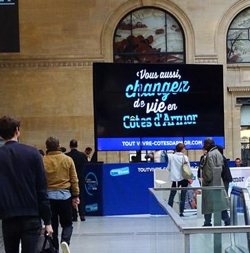 Les Côtes d'Armor à la gare Saint-Lazare Paris